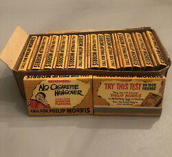 1950 Philip Morris Matches Full Case 25 Try This Test No Cigarette Hangover