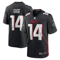 Atlanta Falcons Russell Gage 14 Nike Men's Black Official Nfl Game Jersey