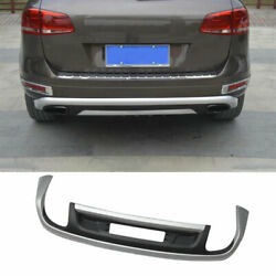 Fit For Vw Touareg 2011-2015 Silver Black Abs Rear Skid Plate Bumper Board Guard
