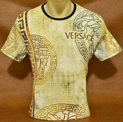 Brand New With Tags Men#x27;s VERSACE Short Sleeve T SHIRT Size M to 3XL