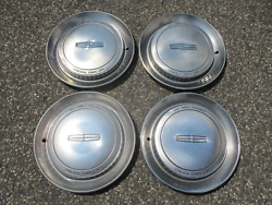 Factory 1990 Lincoln Continental Town Car 15 Inch Hubcaps Wheel Covers Set