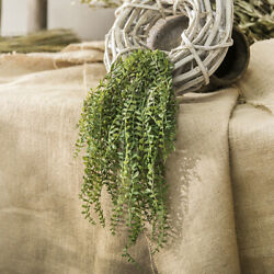 Artificial succulents hanging wall plants pearls fleshy vine green branches P3