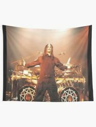 Joey Jordison on Stage Wall Tapestry Joey Jordison Drummer Wall Hanging Band