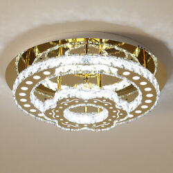 Crystal Circle Rings Chandeliers Home Decor Ceiling Lights Gold Lighting Fixture