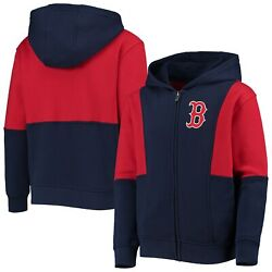 Boston Red Sox Youth All That Full-zip Hoodie - Navy/red
