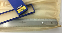 """Drafting Machine Scale - 1/8 1/4 Bruning 12"""" Aluminum New Old Stock Vintage"""