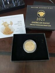 American Eagle 2021 One-half Ounce Gold Proof Coin West Pointw In Hand Monday