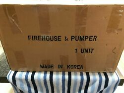 Mth Kingsbury Firehouse And Pumper Tin Toy 10-1003
