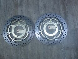 2001 Honda Cbr600 F4 H439-3 Left And Right Front Brake Rotor Disc Set