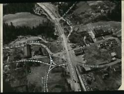 1954 Press Photo Ariel View Of The Sylvan Intersection On Sw Canyon Rd