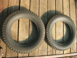Goodyear Deluxe All-weather 5.25 / 5.50 X 18 Tires Pair Nos Vintage