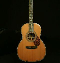 Fast Ship Handmade Acoustic Guitar Red Spruce Top India Rosewood Real Abalone