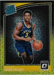 Z3 2018-19 Panini Optic Aaron Holiday Black Gold Prizm Rc 7/8 Indiana Pacers