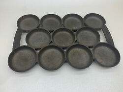 Antique Cast Iron A 1 Pan, Corn Bread, Biscuits, 11 Round Molds