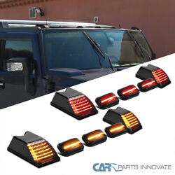 For 03-09 Hummer H2 Smoke Led Cab Roof Top Marker Running Lights Truck Suv Sut