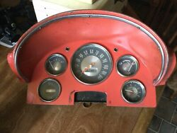 1956 Ford Truck Dash Panel 5 Gauge Mechanical Used For Parts