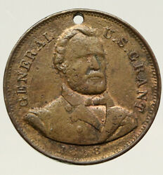 1868 United States Usa Presidential Ulysees S Grant Campaign Token Medal I93190