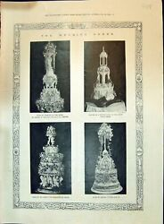 Old 1896 Wedding Cakes Bolland Chester Searcy Gunter Baby Grand Piano Victorian