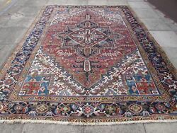Antique Worn Traditional Hand Made Vintage Oriental Wool Red Carpet 325x250cm