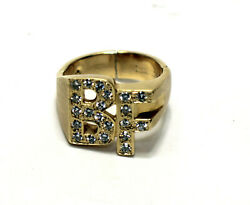 Solid 14k Yellow Gold And Diamond Bf Ring 15.5-grams 1.05tcw W/ Clasp - Size 10.5