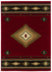 10'x13' Sphinx Nature Print Red Southwestern 087k1 Area Rug - Aprx 10' X 13'