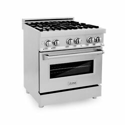 Zline 30 Professional Dual Fuel Oven Range In Stainless