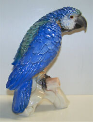 Vintage And03967 Goebel W Germany Cv79 Blue Green Parrot Macaw Tropical Bird Figurine