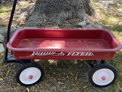 Vintage 1990s Original Radio Flyer Model No. 9 Red Wagon Complete Made In Usa