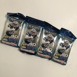 4 Sealed Nfl Playoff 2020 Fat Pack Value Cello 40 Card Opti-chrome Blue Lot 🔥