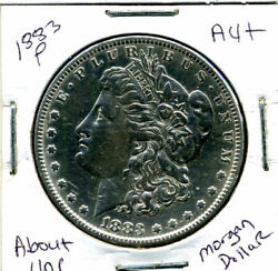 1883 P Au Morgan Dollar 100 Cent About Uncirculated 90 Silver Us 1 Coin 1274