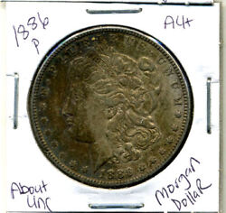 1886 P Au Morgan Dollar 100 Cent About Uncirculated 90 Silver Us 1 Coin 3884