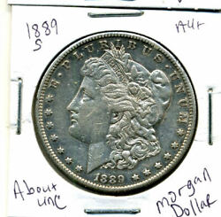1889 S Au Morgan Dollar 100 Cent About Uncirculated 90 Silver Us 1 Coin 1227