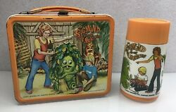 Vintage 1974 Sigmund And The Sea Monsters Lunch Box Thermos Krofft Vibrant Color