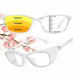 Dollger Safety Reading Glasses With Readers 1.5 2.0 For Women Men Safety Read...