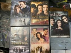 Twilight Complete Set Of Movies On Dvd. 1, 2, 3, Breaking Dawn 1 And 2.