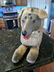 Vintage 1950s Roy Rogers Bullet Dog Stern Toy Stuffed Animal Ultra Rare