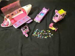 Littlest Pet Shop - Car, Scooter, Jet, Limo And Accessories Lot
