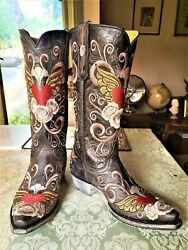 Old Gringo Grace Black Cowgirl Boots Size 9
