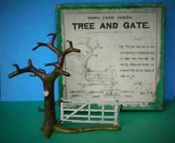 Britains France Depose Vintage 1910 Boxed Lead Home Farm Series 7f Tree And Gate