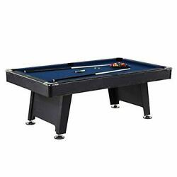 Thornton 7 Foot Billiard Game Room Table With Accessories, Black/blue