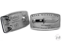 Limited Edition Buck Knives Serialized Belt Buckle Buck 119 166 Of 500 Christmas