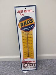 Vintage Advertising Dadand039s Soda Fountain Store Counter Thermometer 794-q
