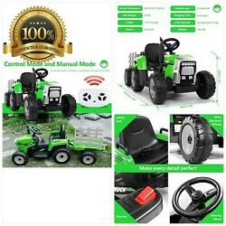 Metakoo Ride On Tractor 12v 7ah, Kids Electric Tractor With Remote Control, 2gea