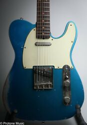 42nd Street Guitars Broadway 6 Tele Relic Lake Placid Blue Over Inca Silver