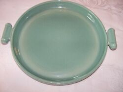 Vintage Red Wing Pottery Village Green Platter With Handles Rare To Find