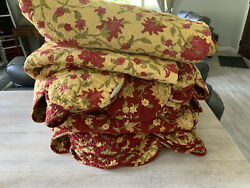 Two Pottery Barn Palampore Venessa Twin Reversible Quilts With Shams