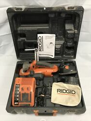 Ridgid R848 Hand Planer With 18v Battery Charger G0437 And Case