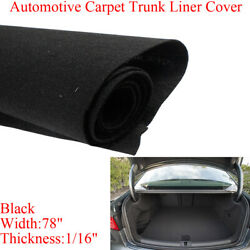 Auto Boat Marine Suv Truck Speaker Box Floor Underfelt Underlay Black 68and039and039x78and039and039