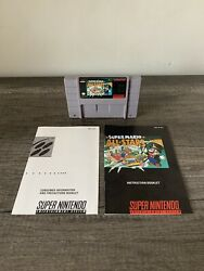 Super Mario All-stars Snes Super Nintendo Game With Instruction Manual