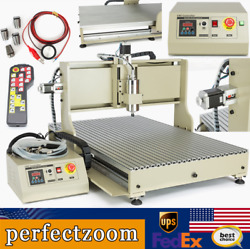 Usb 4axis 6090 Cnc Router Engraver Wood Metal Carving Mill Machine 2.2kw Er20+rc